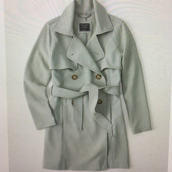 famous brand choose original choose original Abercrombie and Fitch Trench Coat